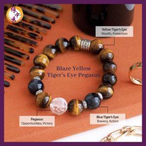 2. (ENG) Blaze Yellow-Tiger's Eye Pegasus Bracelet - Yuan Zhong Siu