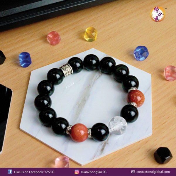 Titan Obsidian Eagle Bracelet-05 - Yuan Zhong Siu