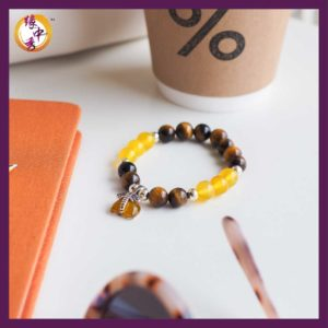 Yellow Prosperity Elephant Bracelet