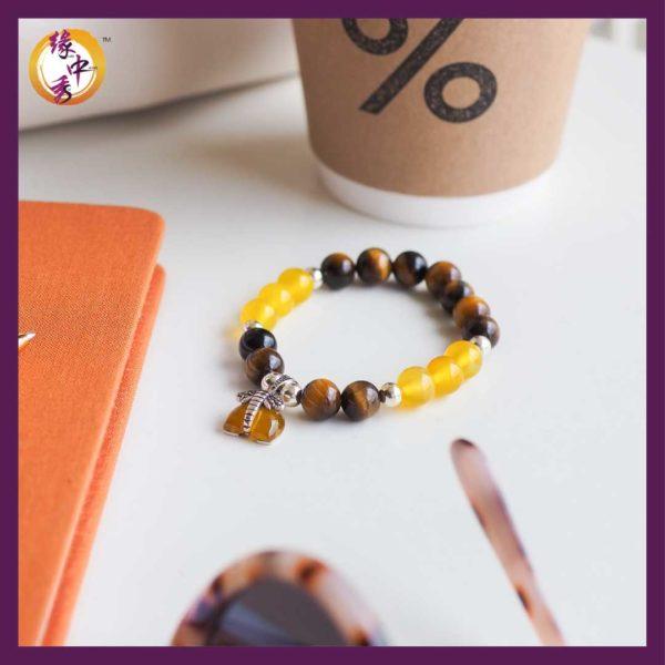 Yellow Prosperity Elephant Bracelet