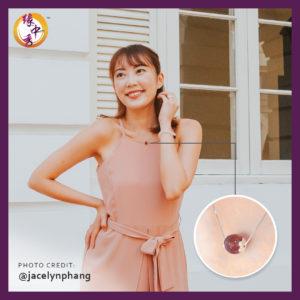Yuan Zhong Siu - Lustrous Bloom Strawberry Quartz Necklace 1
