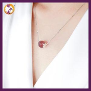 Yuan Zhong Siu - Strawberry Quartz Necklace 1