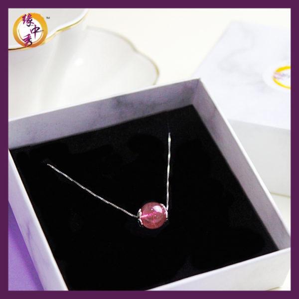 Yuan Zhong Siu - Strawberry Quartz Necklace 2