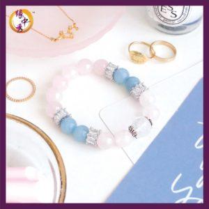 1. Yuan Zhong Siu Devotion Phoenix Rose Quartz Bracelet