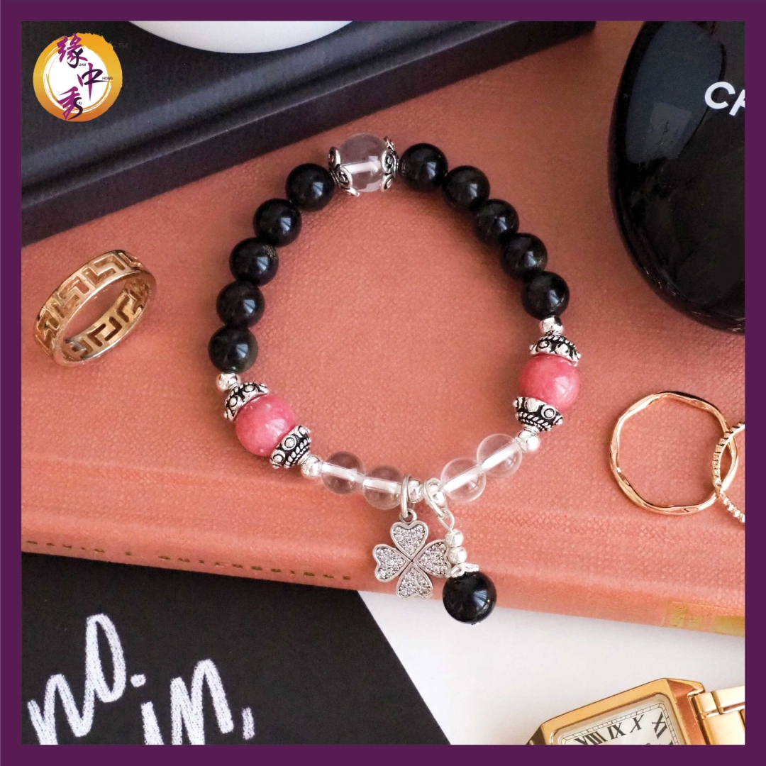 1. Yuan Zhong Siu Divine Eagle Rhodonite Bracelet