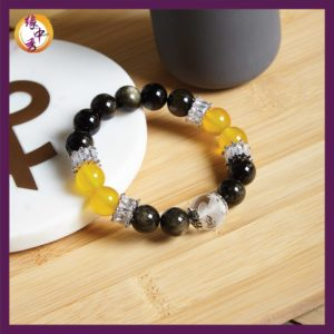 1. Yuan Zhong Siu Graceful Yellow Agate Phoenix Bracelet