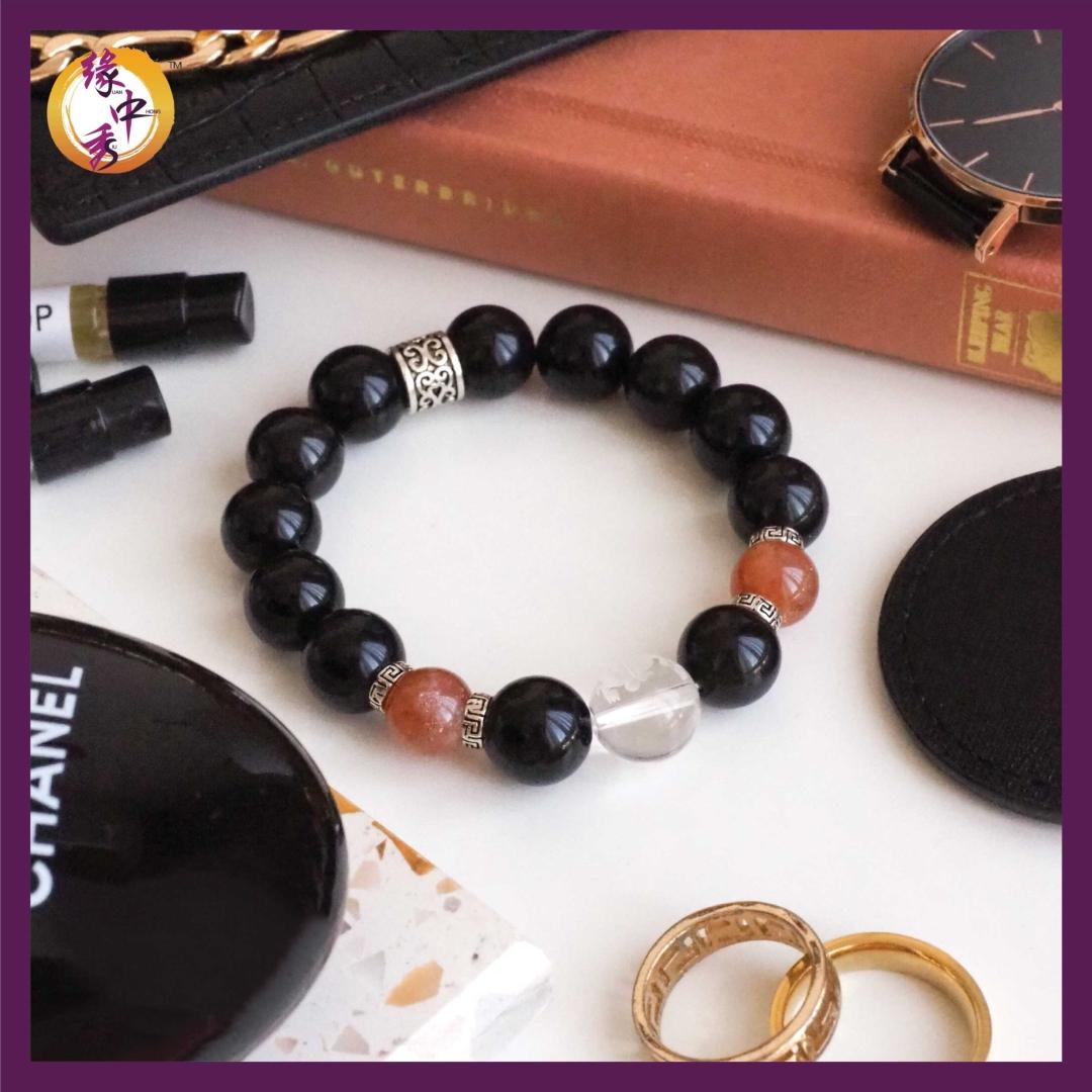 1. Yuan Zhong Siu Legacy Pi Xiu Sunstone Bracelet