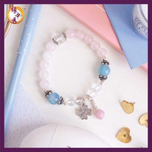 1. Yuan Zhong Siu Love Phoenix Rose Quartz Bracelet