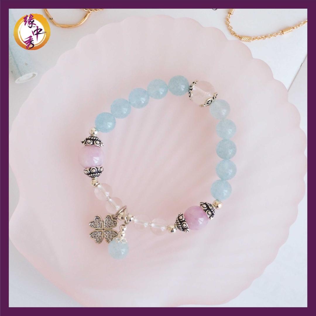 1. Yuan Zhong Siu Ocean Phoenix Aquamarine Bracelet