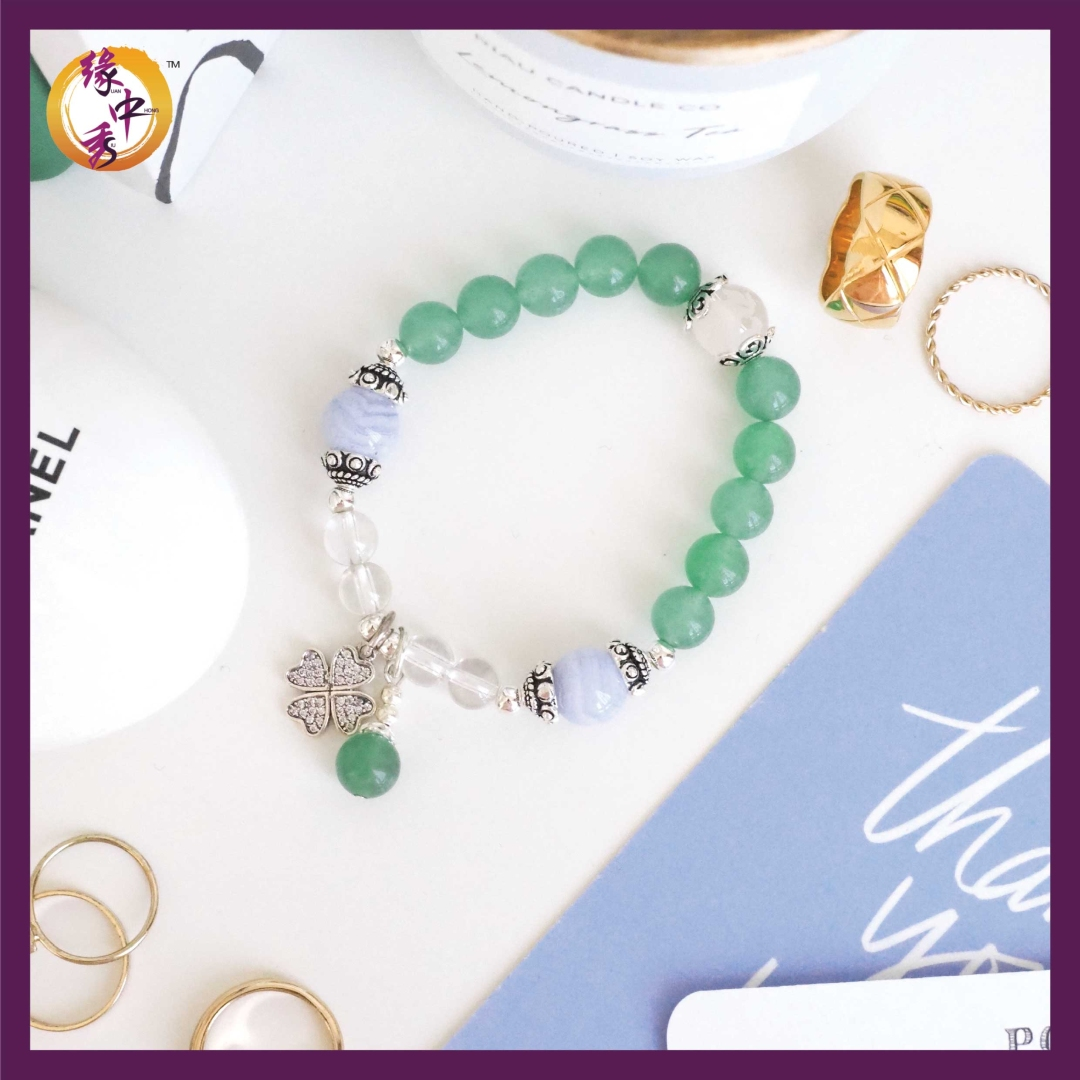 1. Yuan Zhong Siu Supreme Green Aventurine Pegasus Bracelet