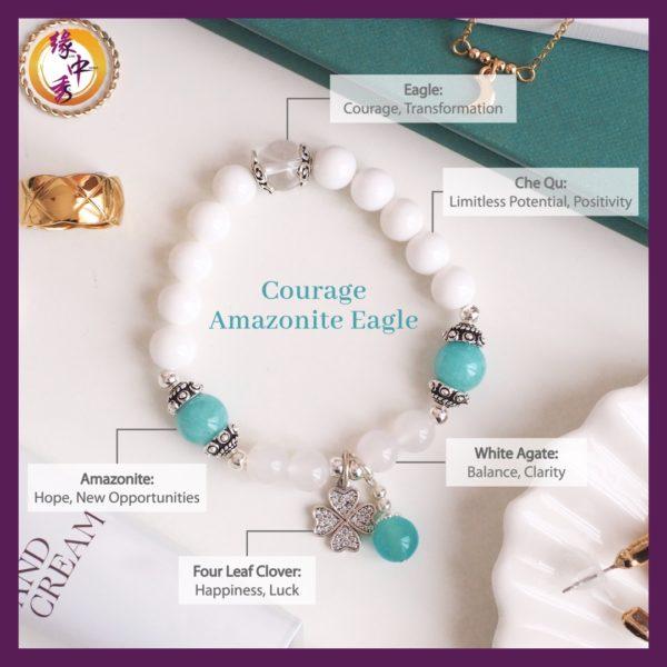 2. (ENG) Courage Amazonite Eagle Bracelet - Yuan Zhong Siu