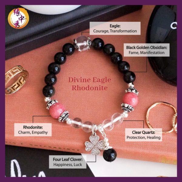 2. (ENG) Divine Eagle Rhodonite Bracelet - Yuan Zhong Siu