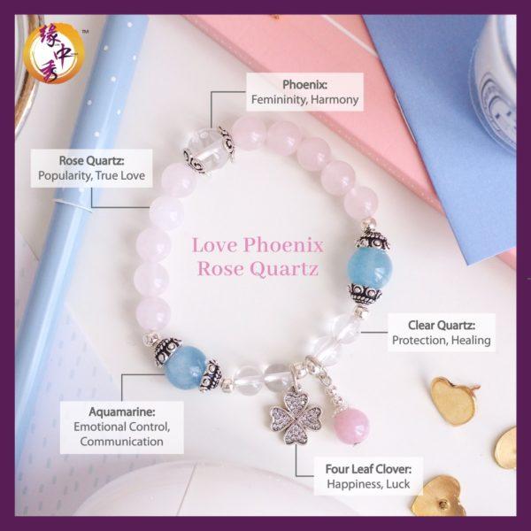 2. (ENG) Love Phoenix Rose Quartz Bracelet - Yuan Zhong Siu