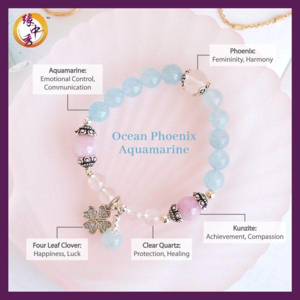 2. (ENG) Ocean Phoenix Aquamarine Bracelet - Yuan Zhong Siu