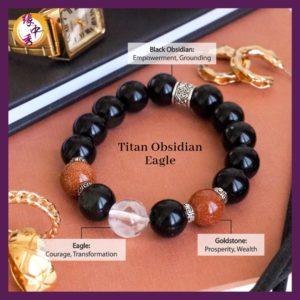 2. (ENG) Titan Obsidian Eagle Bracelet - Yuan Zhong Siu