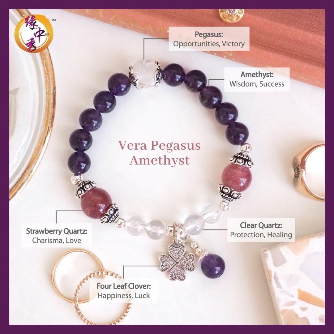 2. (ENG) Vera Pegasus Amethyst Bracelet - Yuan Zhong Siu