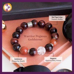 2. (ENG) Warrior Pegasus Goldstone Bracelet - Yuan Zhong Siu