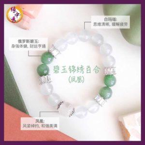 3. (CHI) Miracle Green Nephrite Phoenix Bracelet - Yuan Zhong Siu