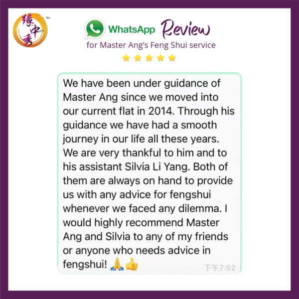 Review Feng Shui Audit by Master Ang 2