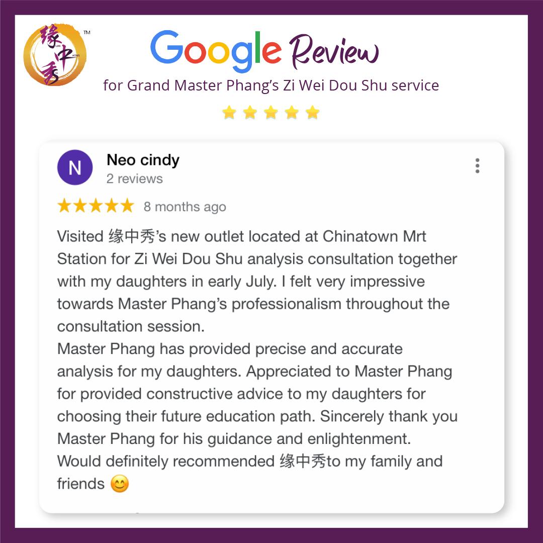 Review Zi Wei Dou Shu Astrology Service by Grand Master Phang 1