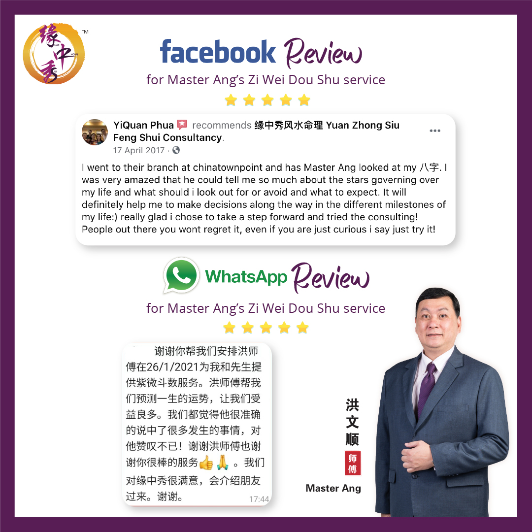 Review Zi Wei Dou Shu Astrology Service by Master Ang